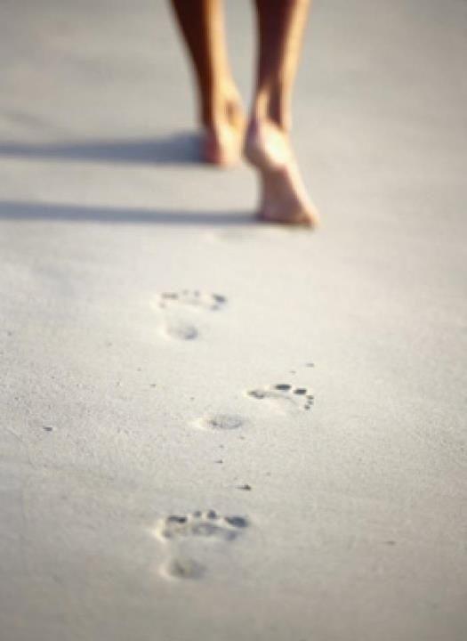 """""""Sai cos'è bello, qui? Guarda: noi camminiamo, lasciamo tutte quelle orme sulla sabbia, e loro restano lì, precise, ordinate. Ma domani, ti alzerai, guarderai questa grande spiaggia e non ci sarà più nulla, un'orma, un segno qualsiasi, niente."""" [Baricco, Oceanomare]"""