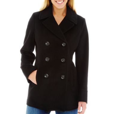 Canada Goose womens sale 2016 - St. John's Bay? Wool-Blend Pea Coat found at @JCPenney | My Style ...