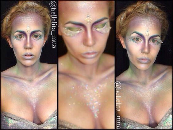 fantastic mermaid makeup! http://bellelitamakeup.blogspot.com.au/2014/01/i-have-ok-confession-time-i-have.html?m=1