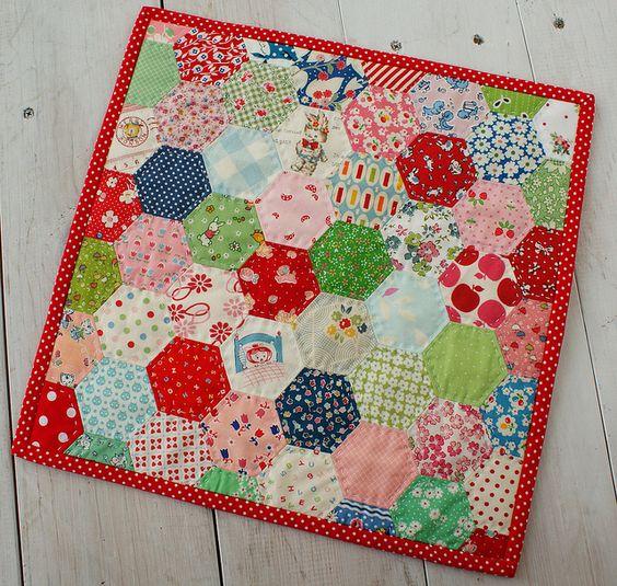 hexagon pillow top by nanaCompany, via Flickr