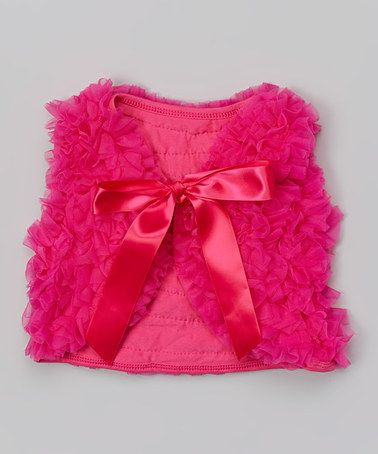 Another great find on #zulily! Hot Pink Chiffon Vest - Infant, Toddler & Girls #zulilyfinds