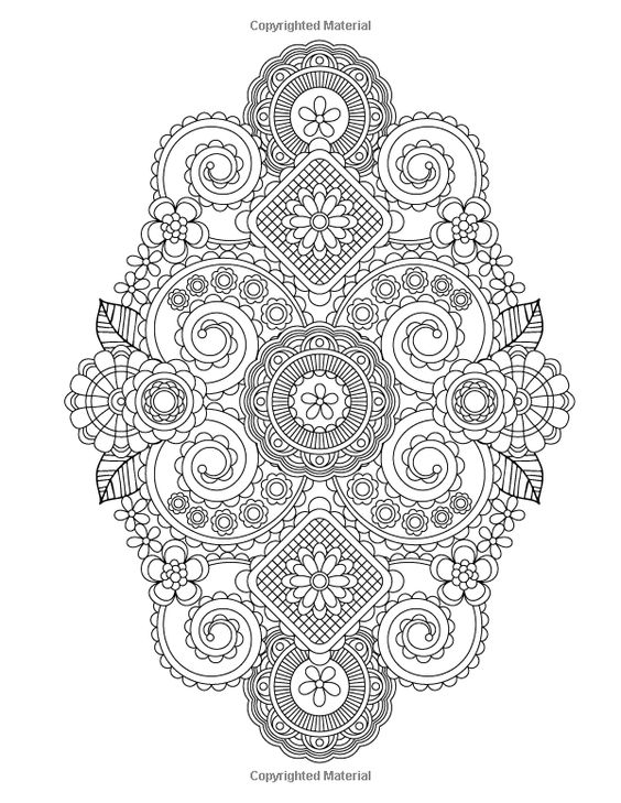 Flower Designs Coloring Books And Coloring On Pinterest