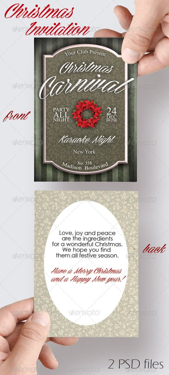 free wedding invitation psd%0A Christmas Carnival Invitation   Carnival invitations  Carnival and File size