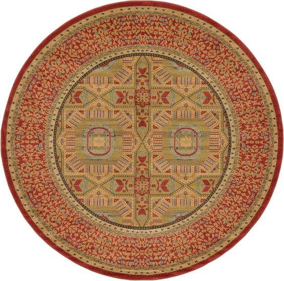 Palace Red Area Rug