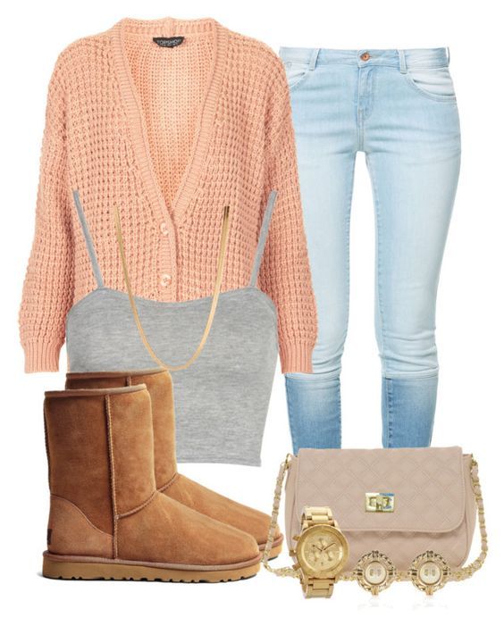 """December 1st 13"" by ciaolabella ❤ liked on Polyvore featuring Zara, Topshop, Boohoo, UGG Australia, ASOS, River Island, Nixon, women's clothing, women and female"