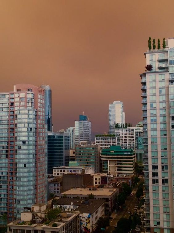 British Columbians wake up to eerie skies, orange glowing sun.