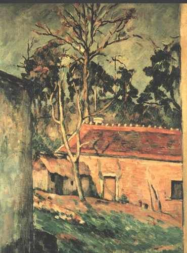 Farmyard at Auvers by Paul Cezanne