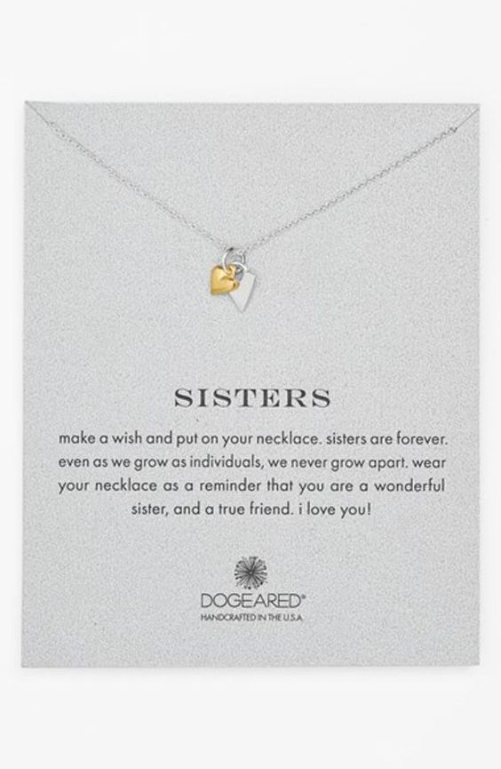 Women's Dogeared 'Reminder - Sisters' Boxed Pendant Necklace - Sisters
