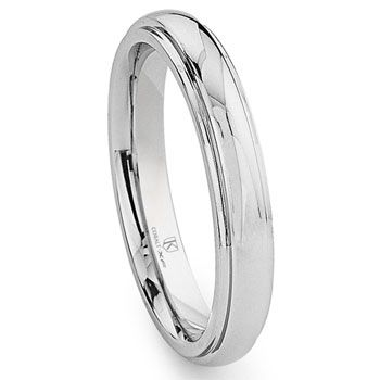Chrome 4mm Xf Cobalt Dome Pirate Wedding Ideas Raised Center Band Rings
