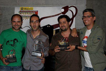 Con el segundo premio regional de Canarias Rueda 2007 con David Pantaleón, Daniel Herrera y Augusto Abreu.