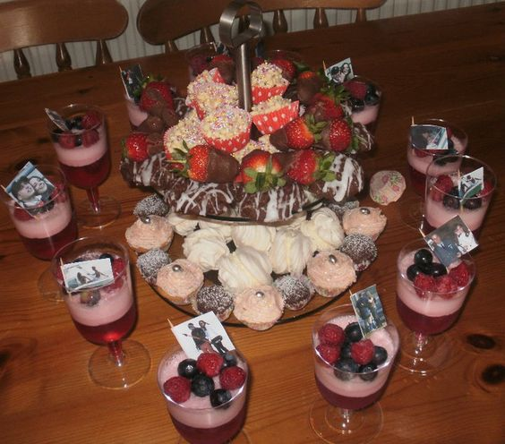 a variety of mini puds for the Royal Wedding 2011