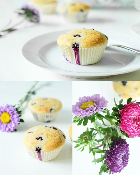 Rezept: Blaubeer Buttermilch Muffins   recipe blueberry buttermilk muffins   baking idea   desserts or afternoon cake   waseigenes Blog