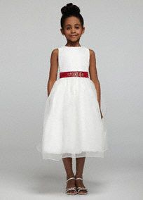 flower girl dress tea length tulle