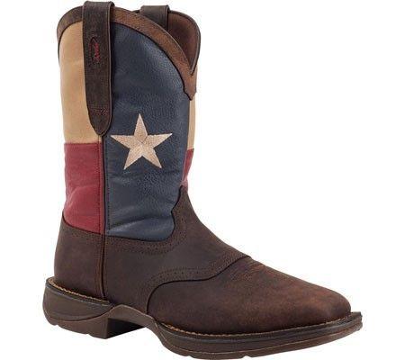 Durango Boot Men's DB021 11' Flag Pull-On Dark Brown/Texas Flag Size 10.5 M
