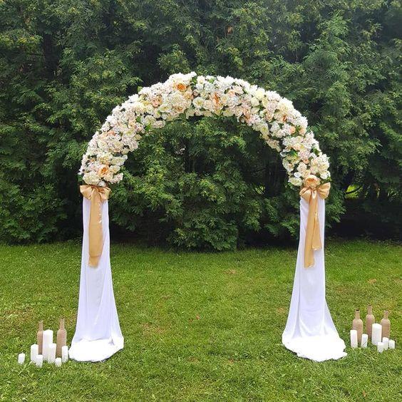 Semi circle wedding arch Half circle wedding arch Classic | Etsy