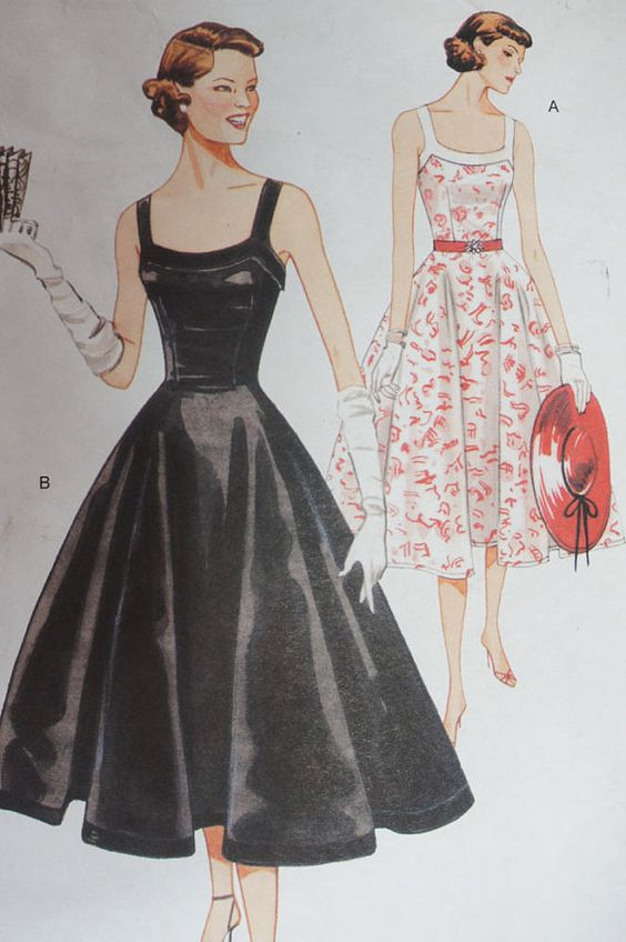 Vogue Vintage Pattern Model Reproduction 1952 by strangenotions