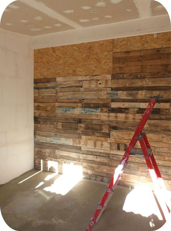 mon mur en palettes objet et meuble en palette deco