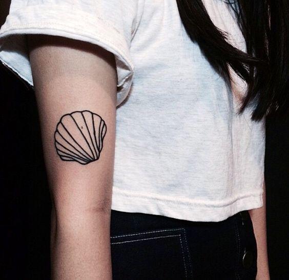 seashell tattoo: