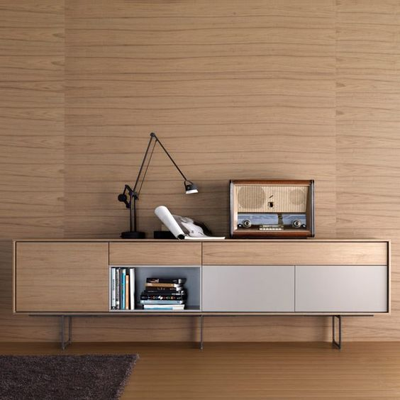 Credenzas furniture and woods on pinterest for Aparadores modernos