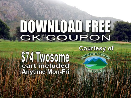 GK Coupon – Camarillo Springs Golf Course Tee Time Special