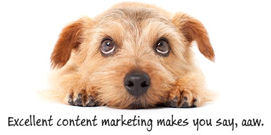 Content marketing makes you say aaw.