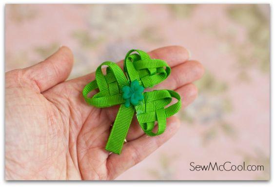 finished ribbon shamrock sewmccool