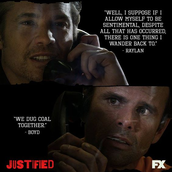 Justified Raylan and Boyd 4ever