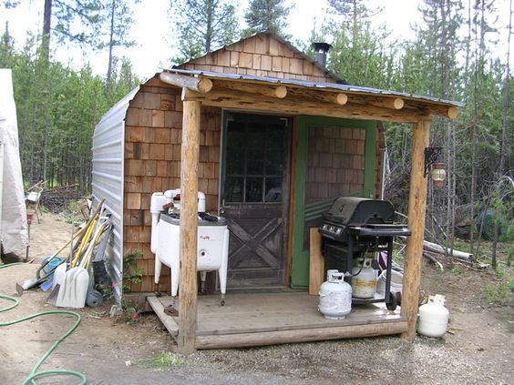 Carport turned into a small home would be great as an for Small garden shelter