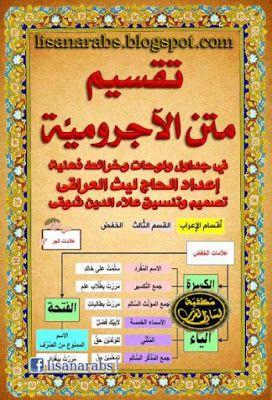 تقسيم متن الآجرومي ة جداول وخرائط ذهني ة الحاج ليث العراقي تحميل وقراءة أونلاين Pdf Pdf Books Pdf Books Download Books