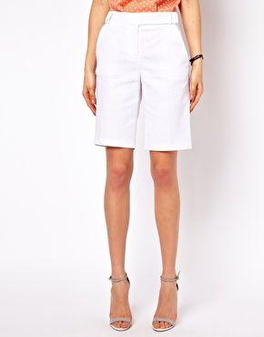 Pantalones cortos a la rodilla de lino de ASOS