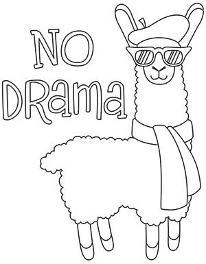 10 Cute Free Printable Llama Coloring Pages Online | 385x300