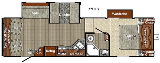 New Yellowstone RV Canyon Trail 27FRLD SLT Fifth Wheel for Sale   Review Rate Compare Floorplans - RVingPlanet