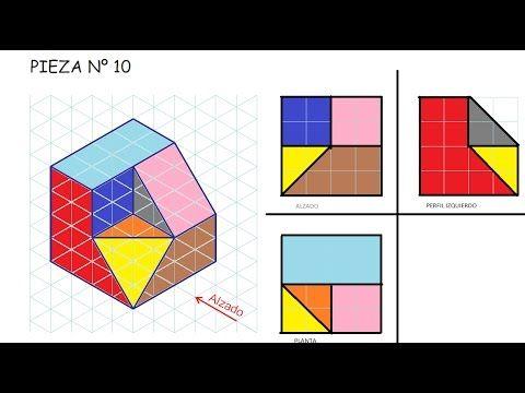 E10 Alzado Planta Y Perfil De Una Pieza Ejercicios De Vistas De Dibujo Tecnico Sistema Europeo Tecnicas De Dibujo Ejercicios De Dibujo Vistas Dibujo Tecnico