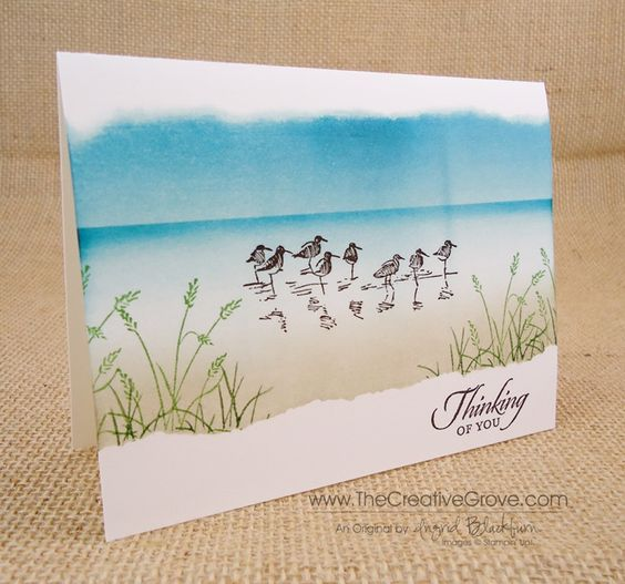 Stampin Up Wetlands Card   Wetlands One Layer Card