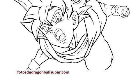 Dibujos De Goku Y Sus Transformaciones Para Colorear Dibujo De