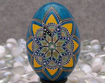 pysanky green blue - Google Search: