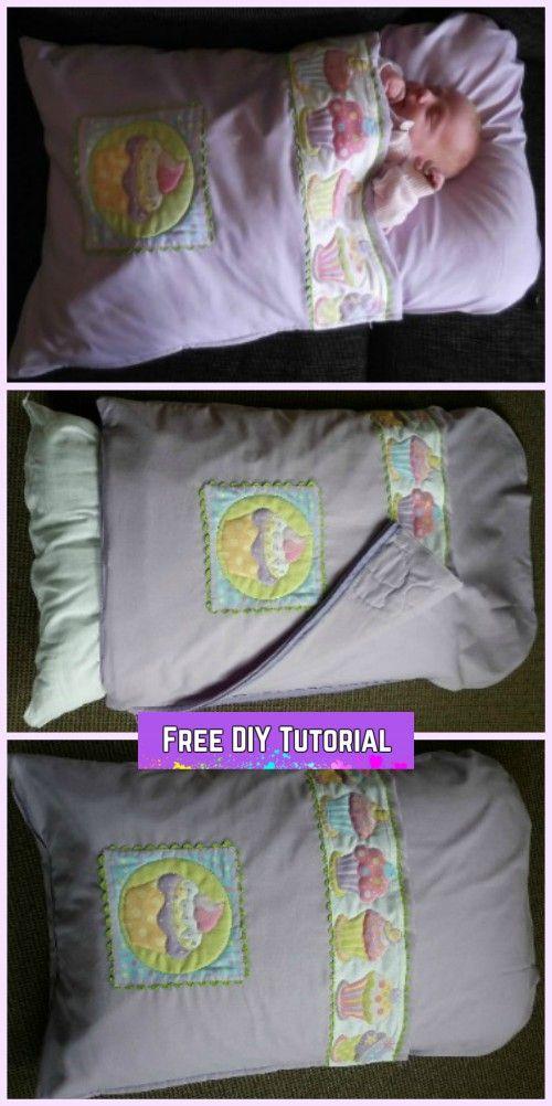 Diy Baby Pillowcase Sleeping Bag Nap Mat Tutorials Pillowcase Sleeping Bag Baby Pillow Case Sleeping Bag Baby Pillow Case