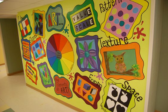art elements and principles mural i painted outside my classroom murals pinterest art. Black Bedroom Furniture Sets. Home Design Ideas