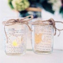 mason jar wedding details