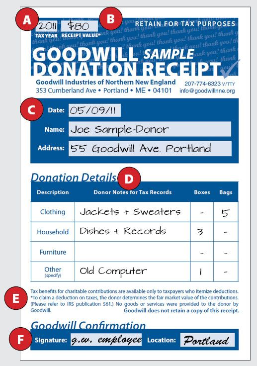 How to fill out a Goodwill Donation Tax Receipt - Goodwill NNE ...