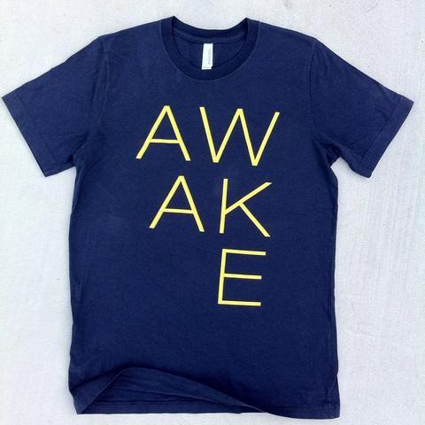 Awake Letters Shirt Navy
