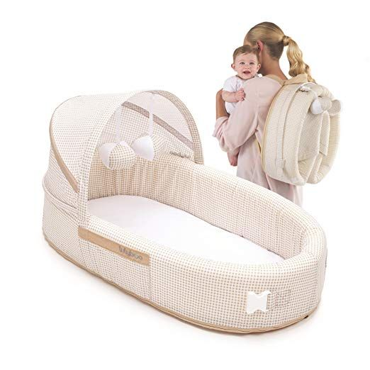 Lulyboo Baby Lounge To Go Portable Infant Bed Folds Into