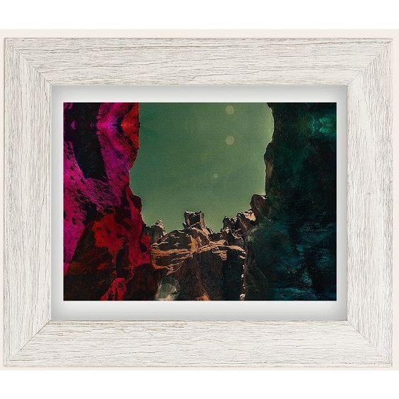 Alexandra Valenti Fossil Falls Art Print ($59) ❤ liked on Polyvore featuring home, home decor, wall art, fall home decor, textured wall art, motivational wall art, landscape wall art and white home decor