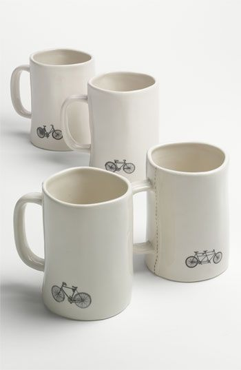 cycle centric rae dunn by magenta bike mugs set of 4 available at