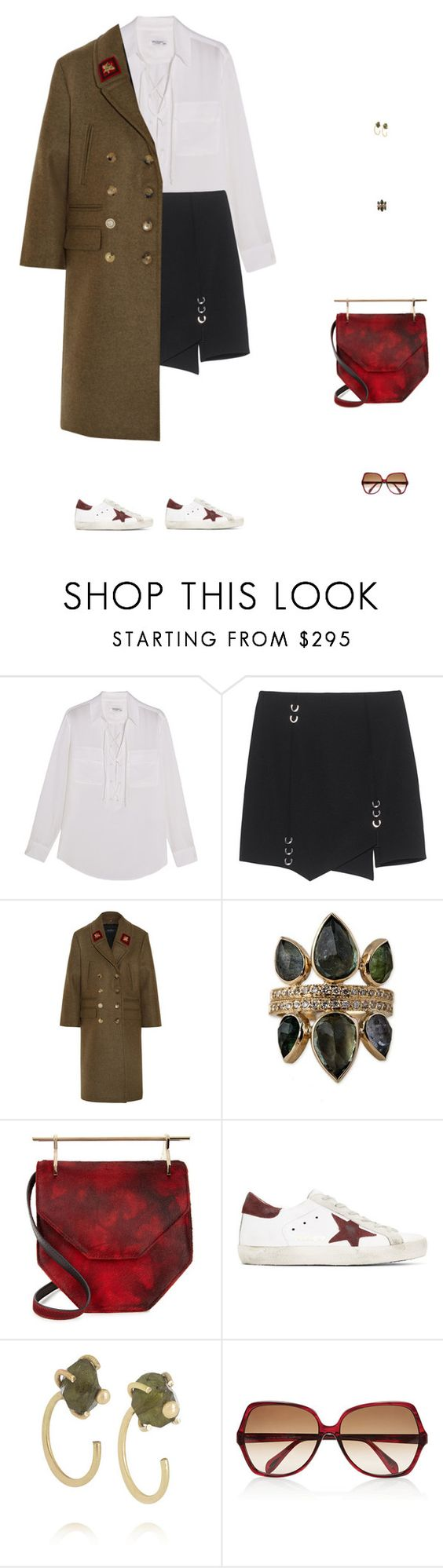 """""""🍂🍁"""" by wangruoxi ❤ liked on Polyvore featuring Equipment, Gucci, M2Malletier, Golden Goose, Melissa Joy Manning and Oliver Peoples"""