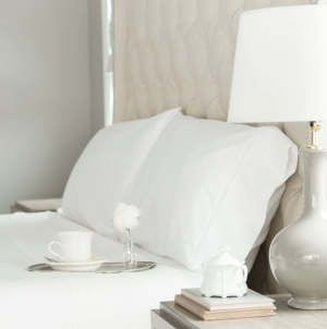 Add a touch of sweet romance with #bollandbranch trimmed sheet set
