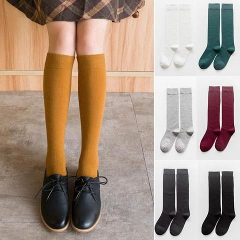 4 Pairs Women FUN FAUX Sneaker Boots FASHION KNEE HIGH LACE UP SOCKS Stockings