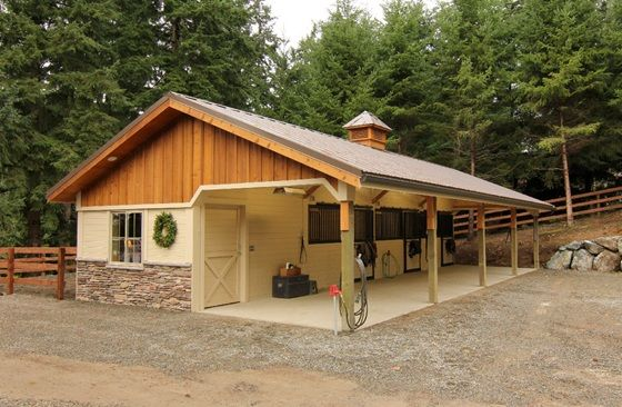 Stalls barns and love the on pinterest for Open barn plans