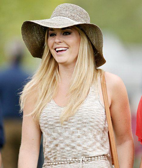 Lindsey Vonn Watches Boyfriend Tiger Woods Play Golf at the Masters in Augusta