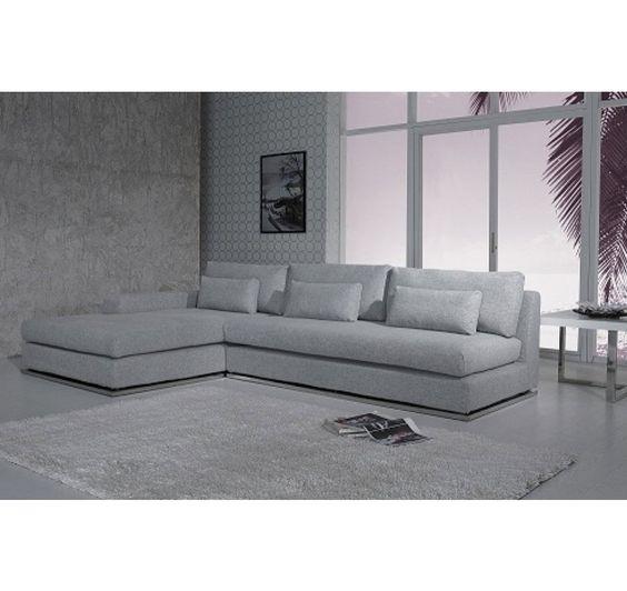 Divani Casa Ashfield   Modern Fabric Sectional Sofa